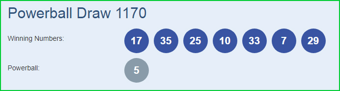 Powerball 1170 Lottery Results 18-10-2018 | Draw No  1170