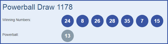 Powerball 1178 Lottery Results 13-12-2018