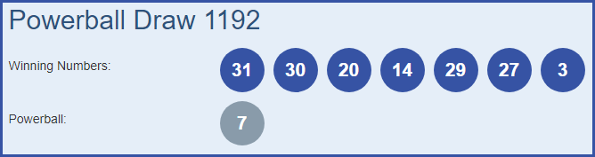 Powerball 1192 Lottery Results 21-03-2019 | Draw No  1192